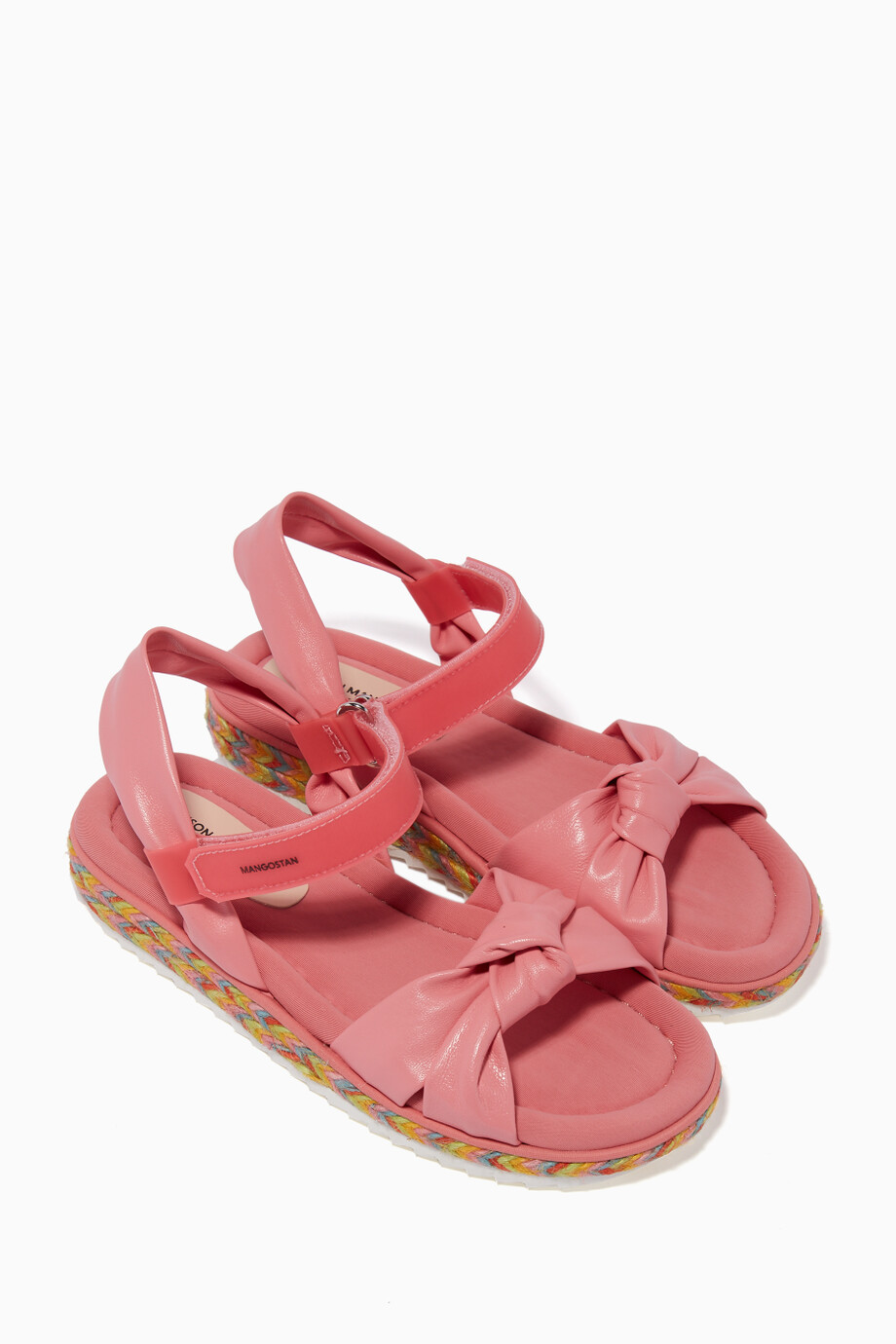 2ea47ee1a1b0 Shop Maison Mangostan Pink Abacate Bow Sandals for Kids
