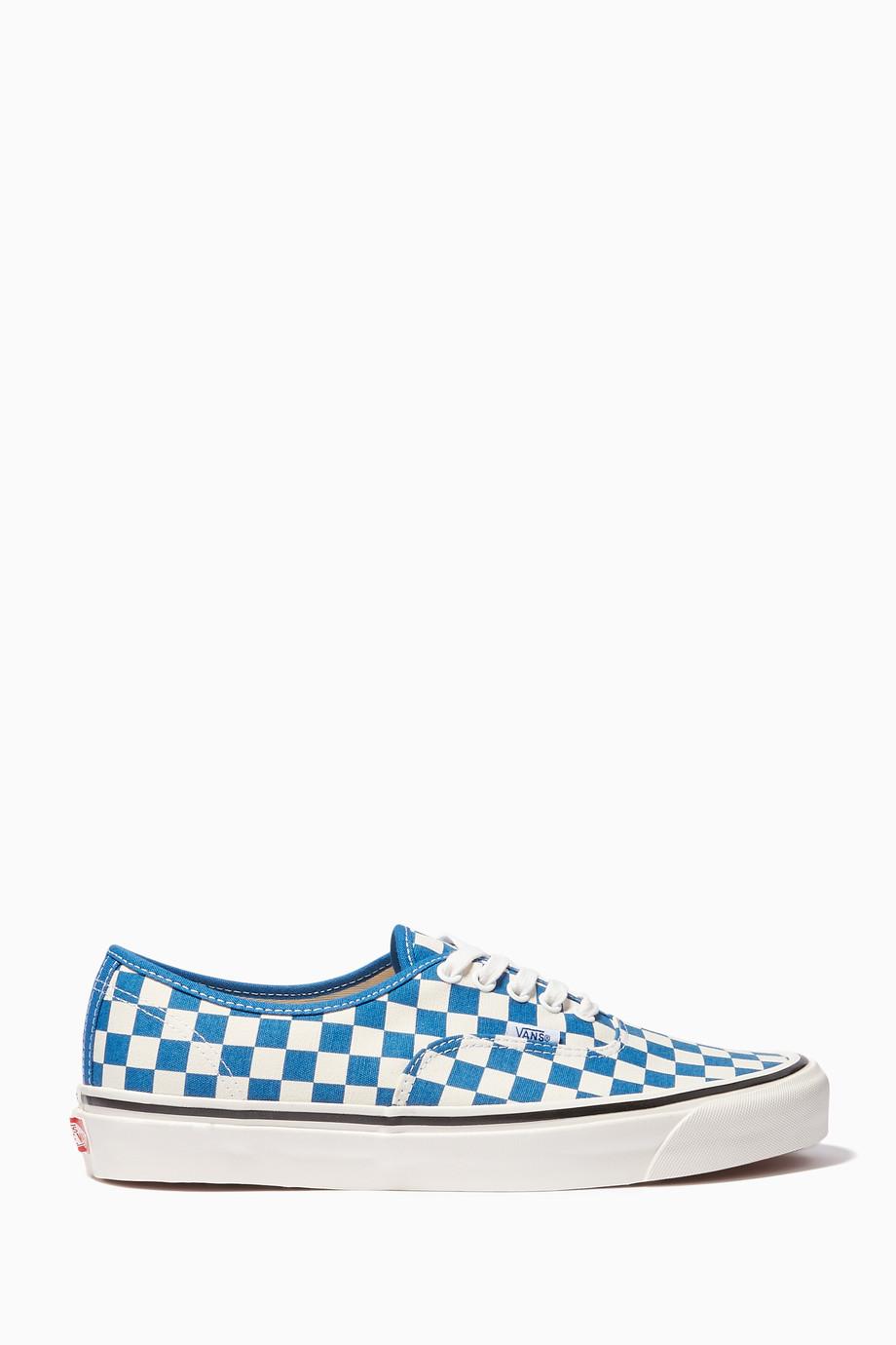 68142e165 تسوق حذاء سنيكرز أوثنتيك أناهايم فاكتوري فانس أزرق للرجال | اُناس ...