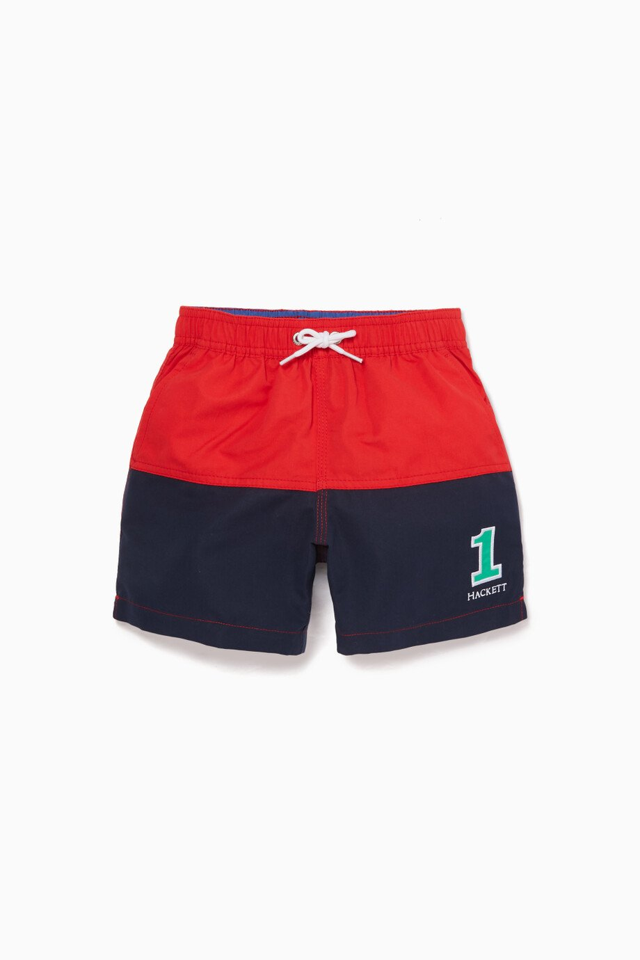99519c8305 Shop Hackett Red Two-Tone Swim Shorts for Kids | Ounass