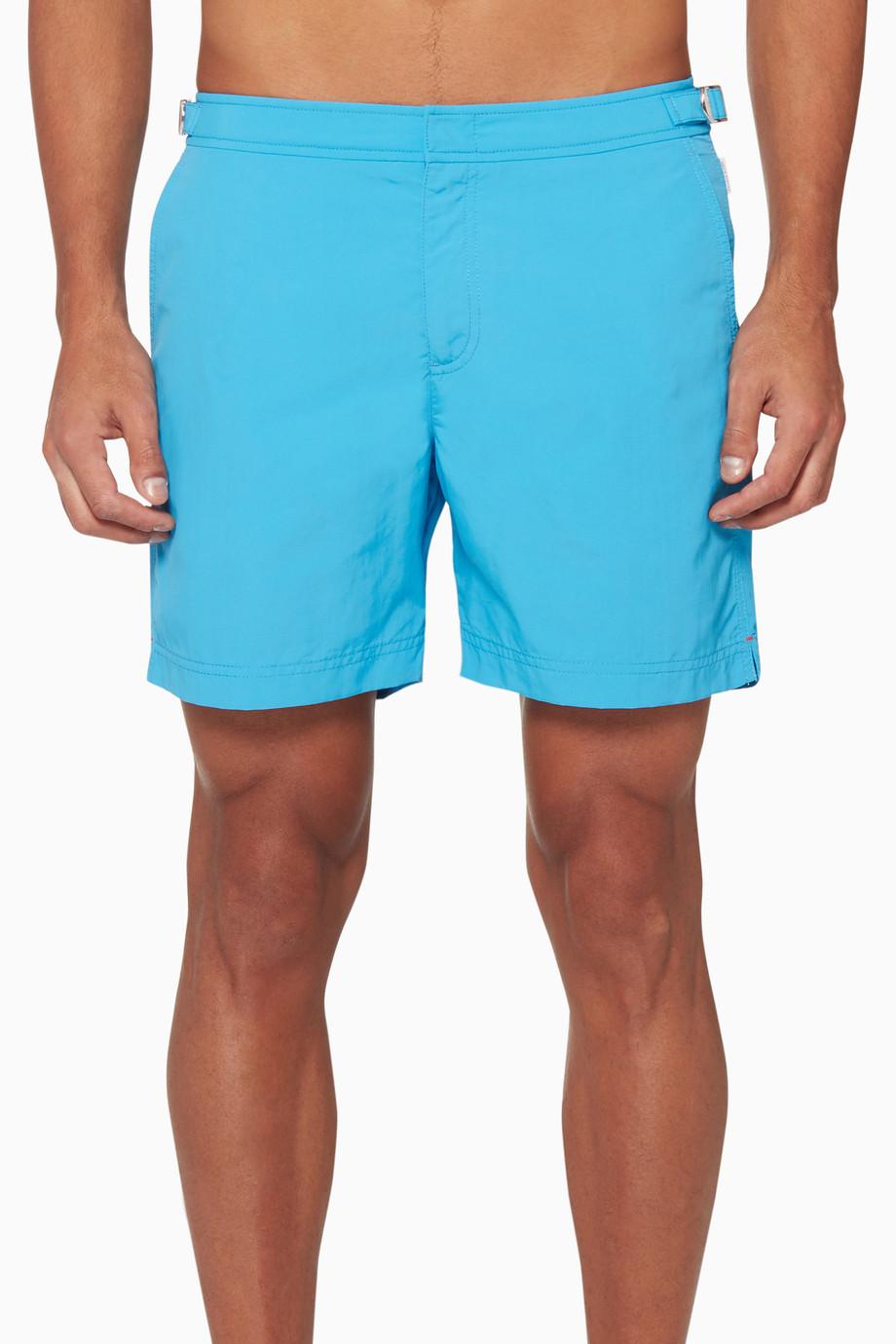 8a4f461bc7 Shop Orlebar Brown Blue Bulldog Mid-Length Swim Shorts for Men | Ounass