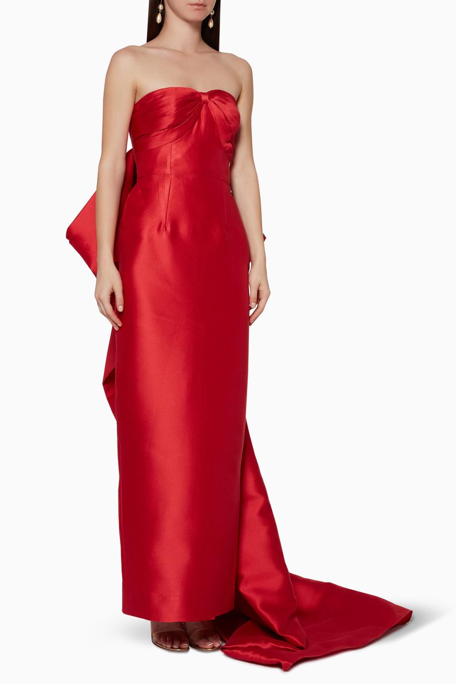 81cb02f0b تسوق فستان سهرة روبي ضيق أحمر بامبا بوتيك أحمر للنساء   اُناس الامارات
