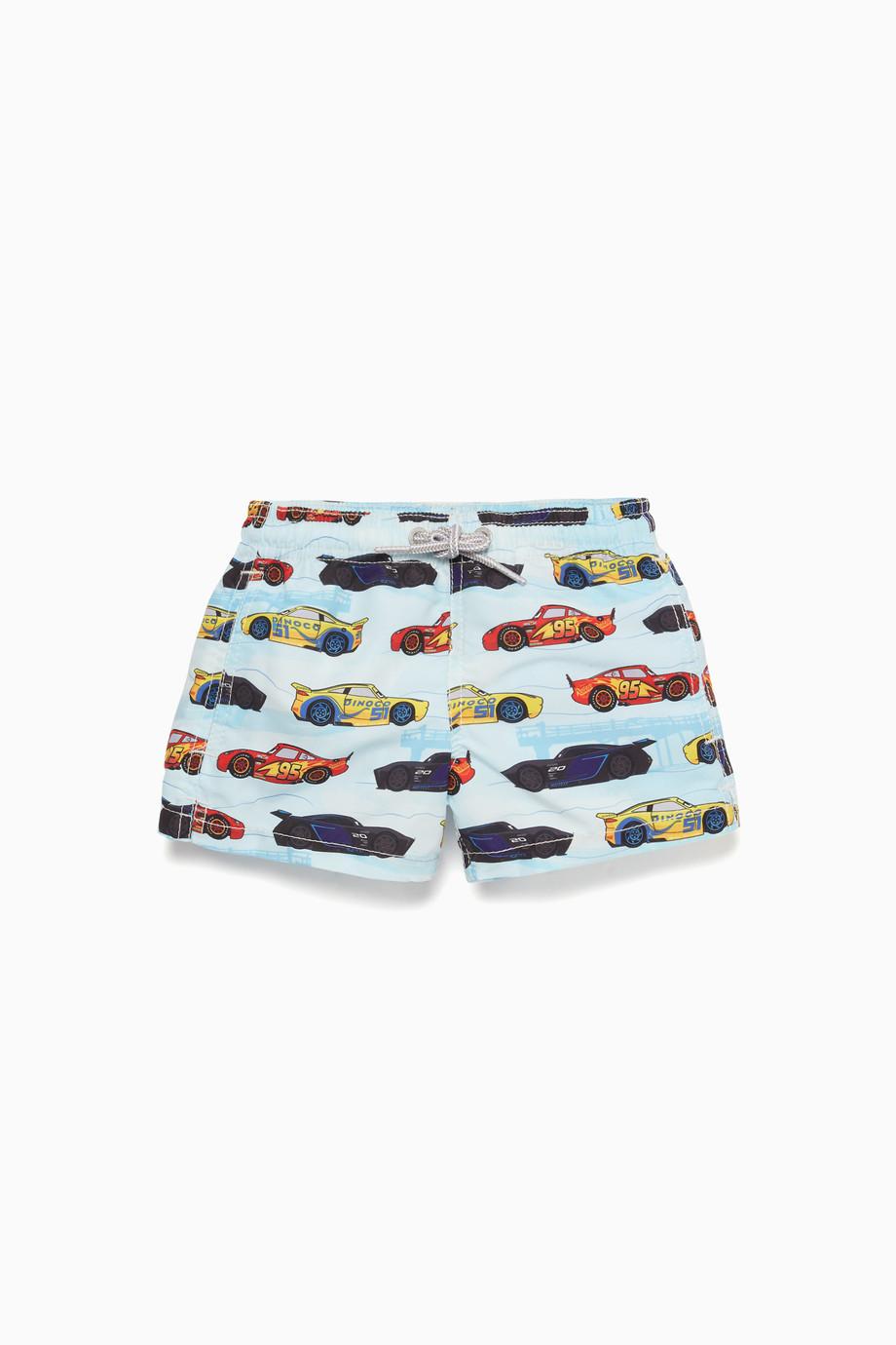 782e93db1e Shop MC2 Saint Barth Multicolour Race Car-Print Swimming Shorts for ...