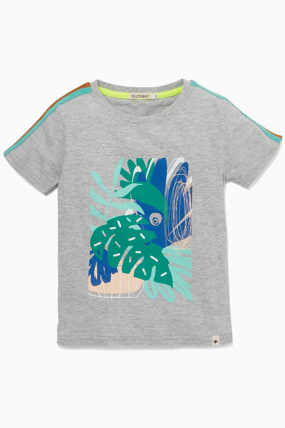 758866626 Shop Billybandit Grey Graphic Print T-Shirt for Kids