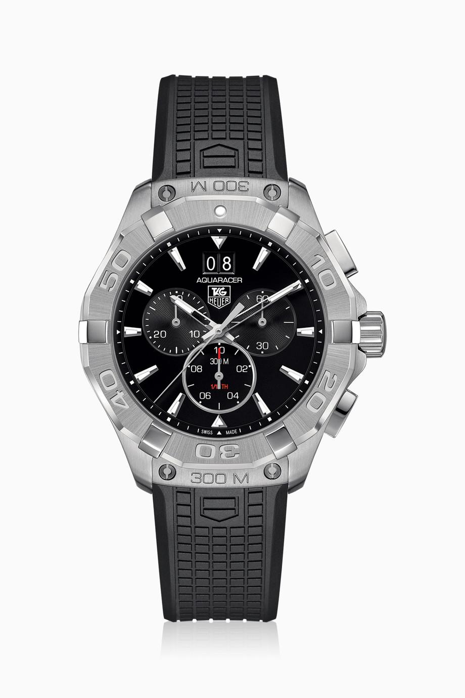9235e544d تسوق ساعة أكواريسر كرونوغراف TAG Heuer أسود للرجال   اُناس الامارات
