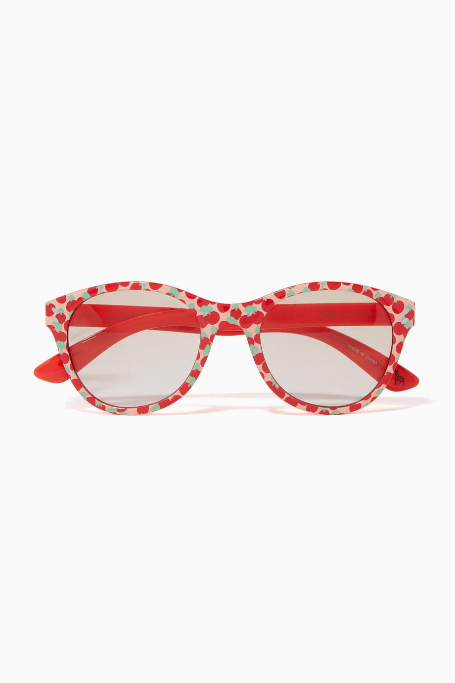 2e72f142217 Shop Stella McCartney Red Red Cherry Sunglasses for Kids