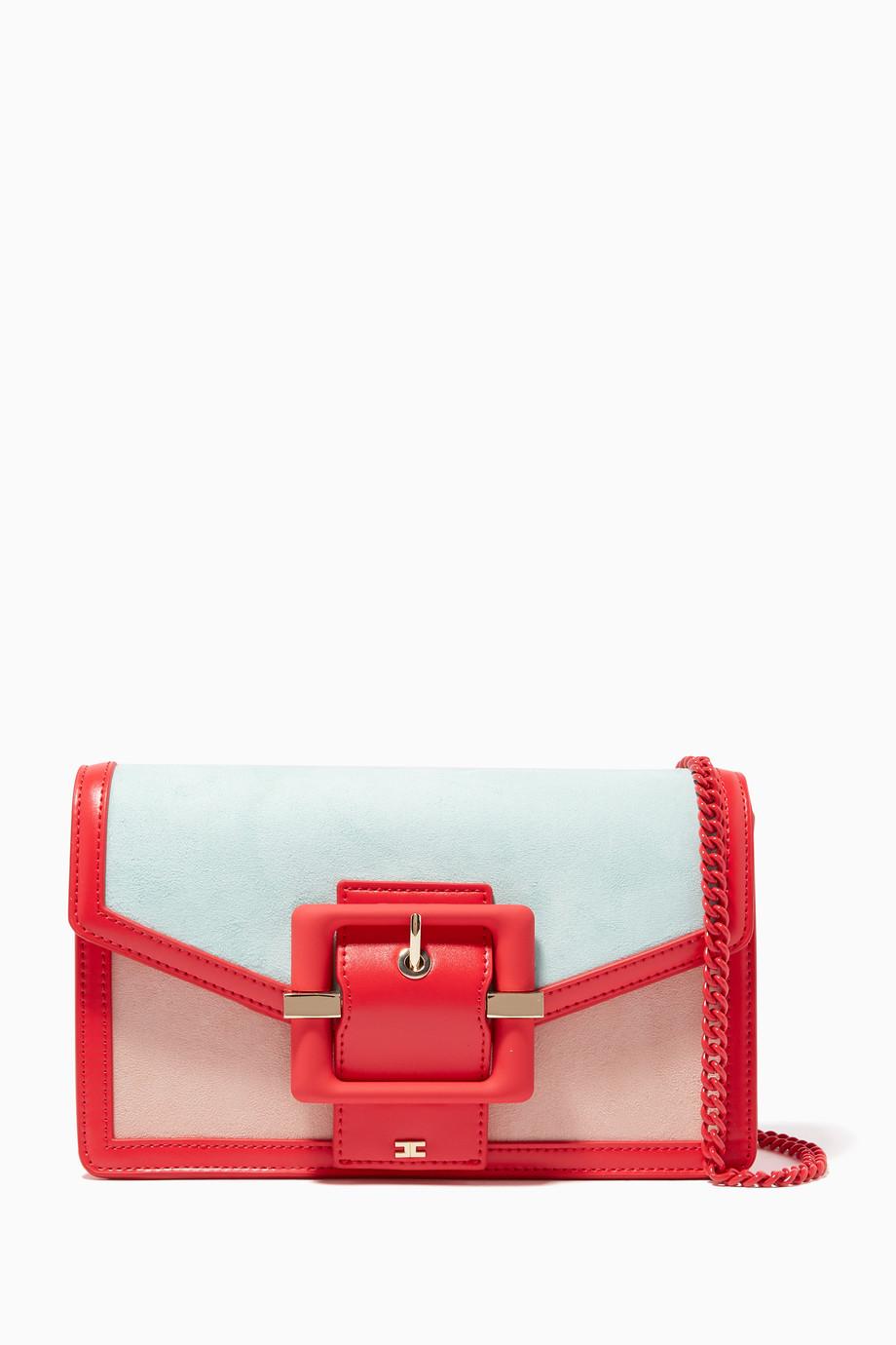 a806e8337fb02 تسوق حقيبة بإبزيم بألوان مغايرة Elisabetta Franchi ملون للنساء
