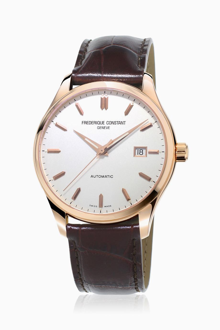 9f9c40fa1 تسوق ساعة أوتوماتيكية كلاسيكية بعلامات ساعات فريدريك كونستانت بنى ...