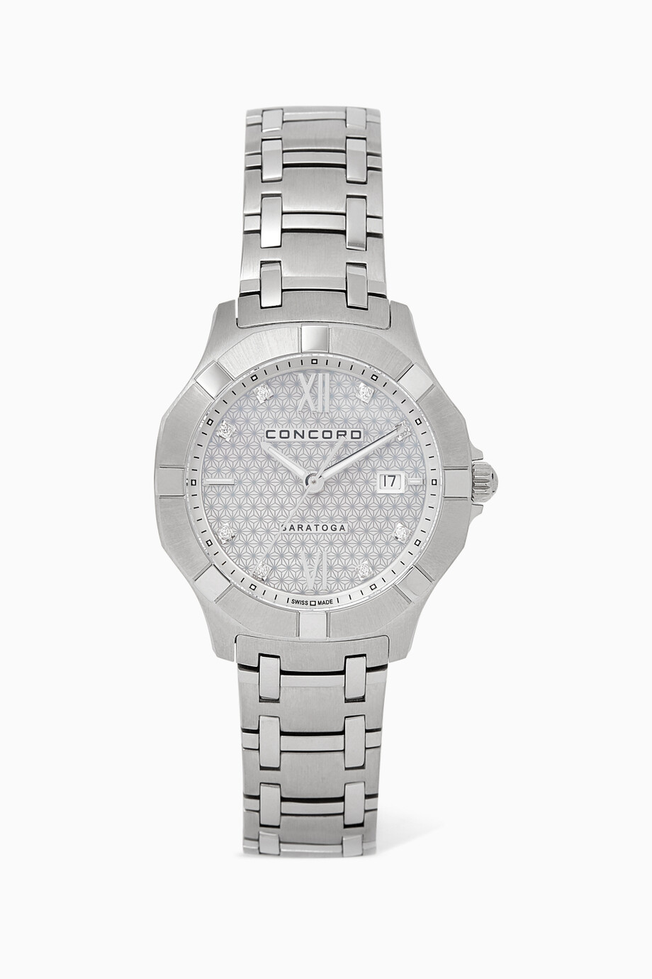 a0c6936d4340c تسوق ساعة سارتوغا ماسية فضي للنساء