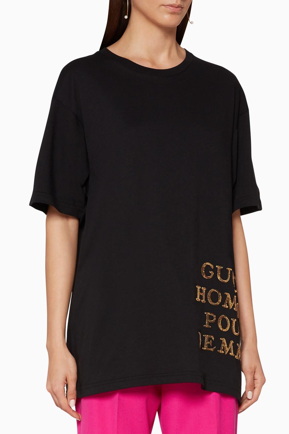 b585badd2fb Shop Gucci Black Oversized T-Shirt for Women