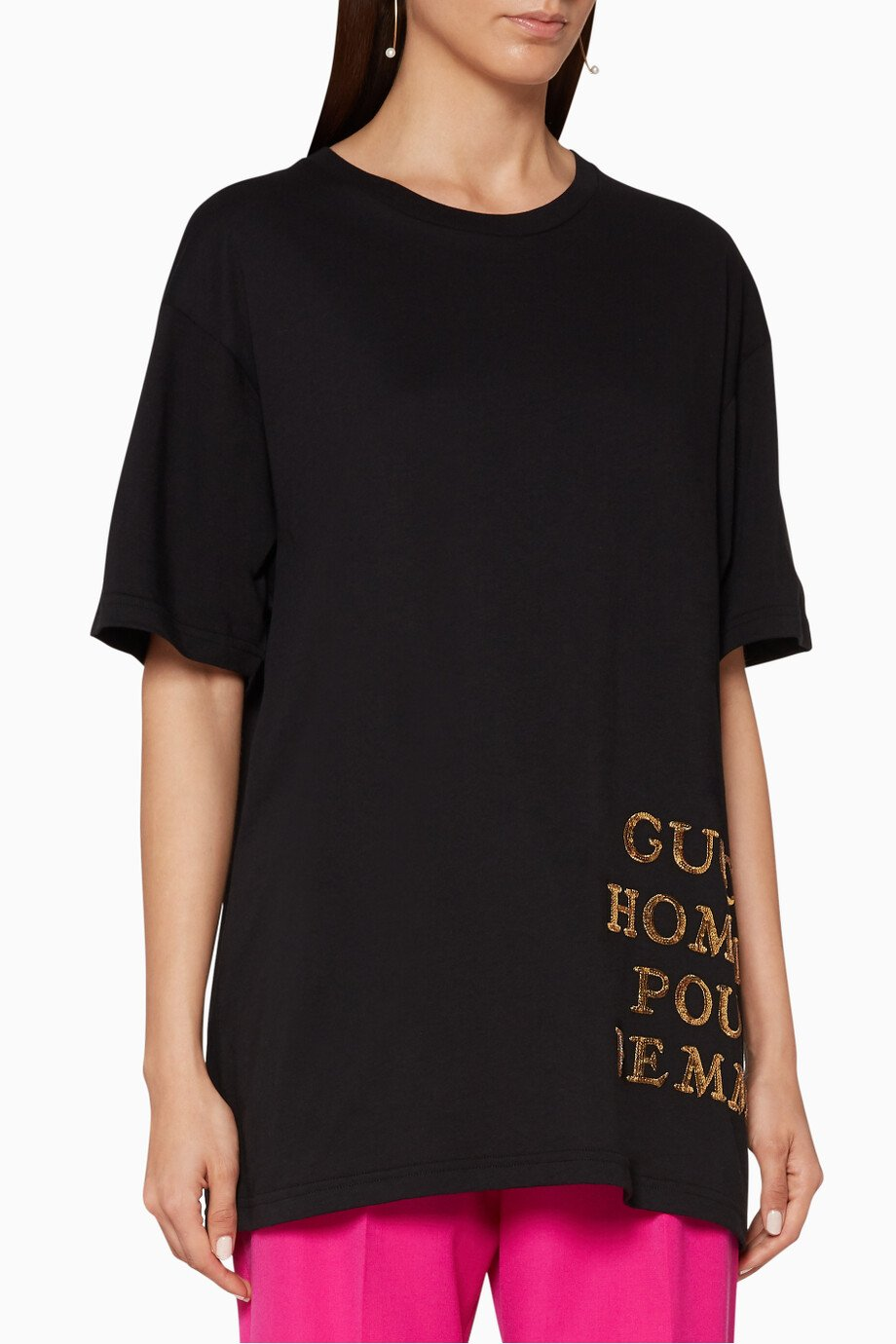 5a7def961f3 Shop Gucci Black Oversized T-Shirt for Women