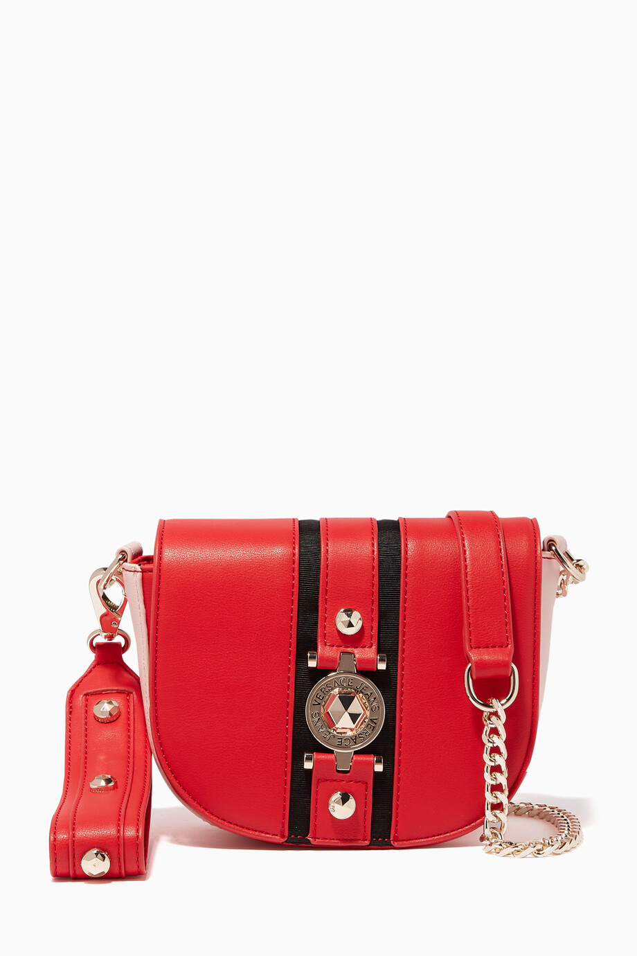 b76c6a535b9 Shop Versace Jeans Red Chain Strap Shoulder Bag for Women   Ounass UAE