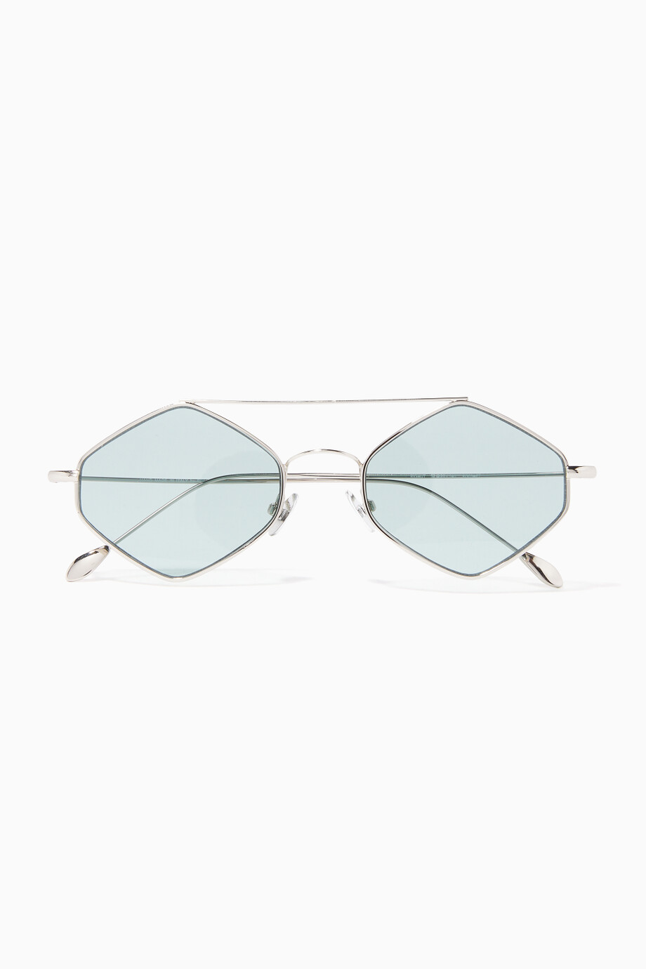 6328328c3 Shop Spektre Green Rigaut Geometric Frame Sunglasses for Men ...
