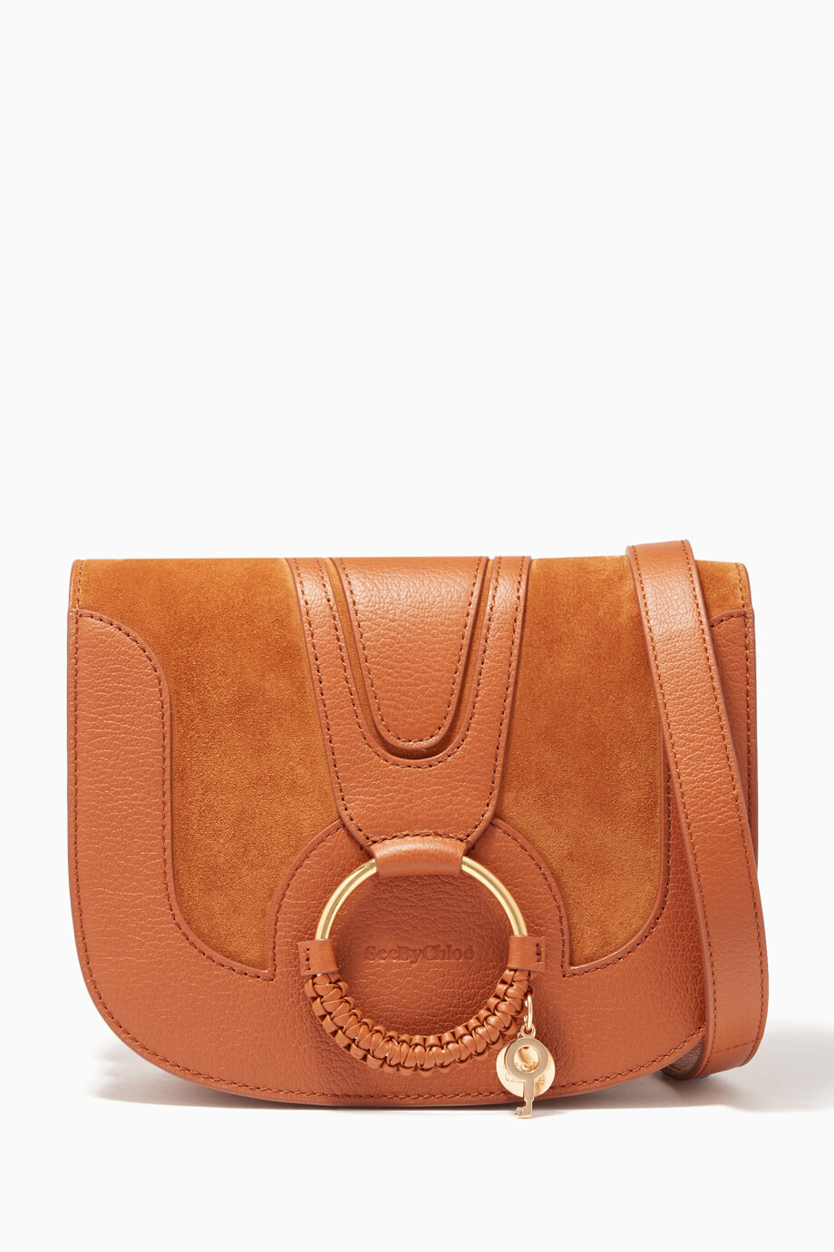 d08ad04b37 Shop See By Chloé Brown Hana Medium Cross-Body Bag for Women ...