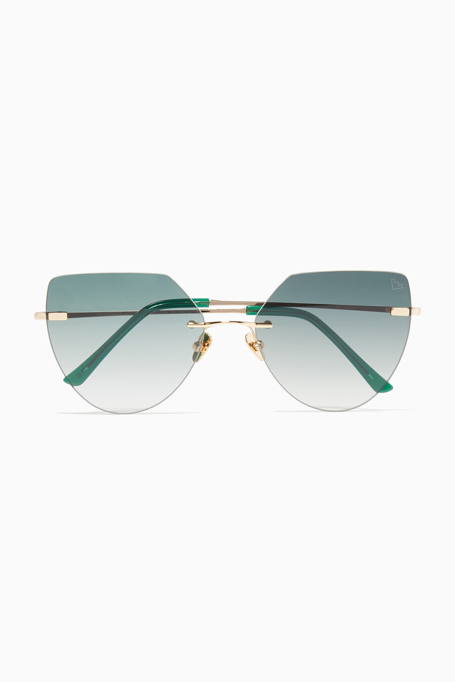 2c6b3e675 Shop Spektre Green Miller Gold Sunglasses for Women | Ounass