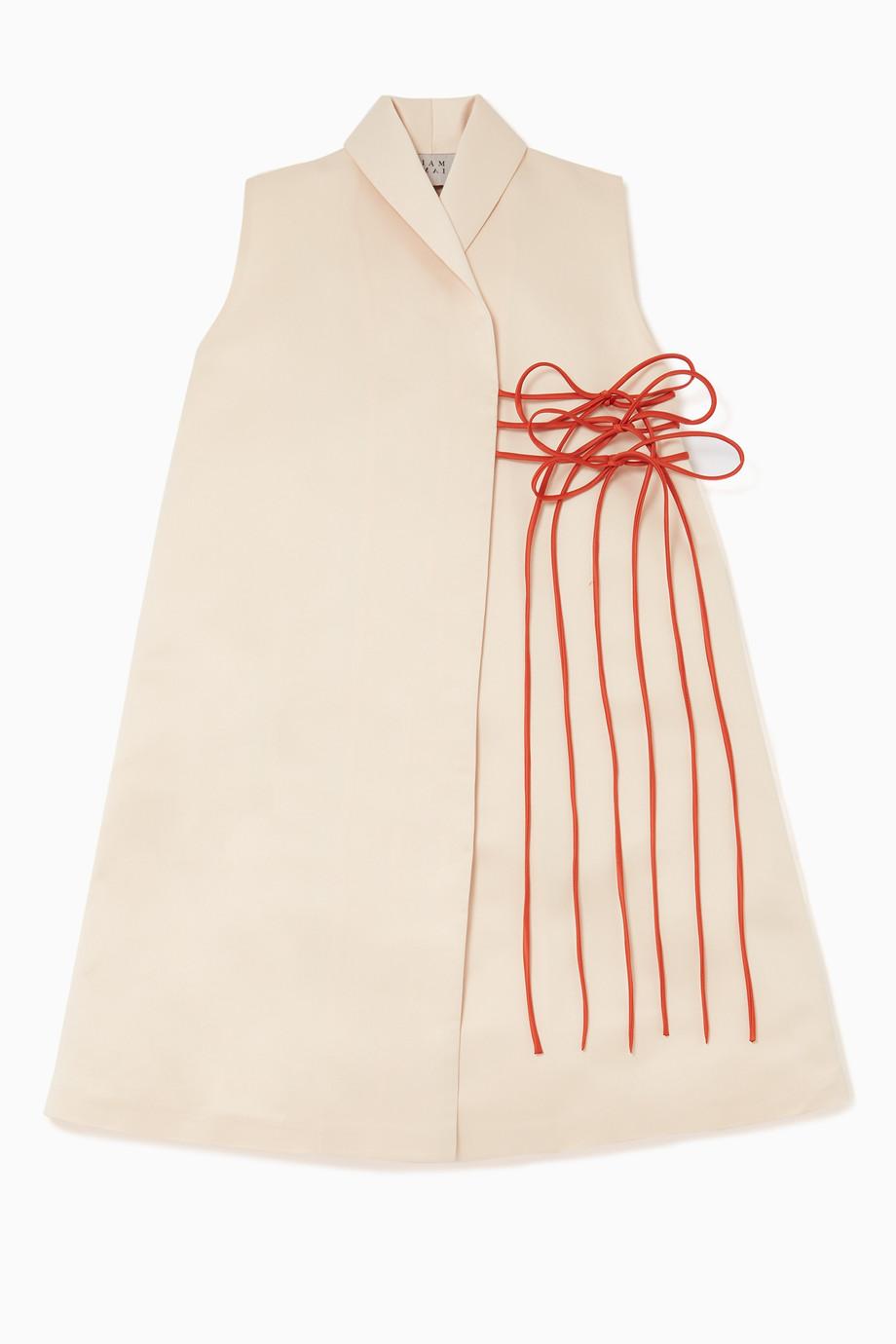 b45a86166 تسوق فستان بلا أكمام وأربطة IAM MAI لون طبيعى للأطفال | اُناس
