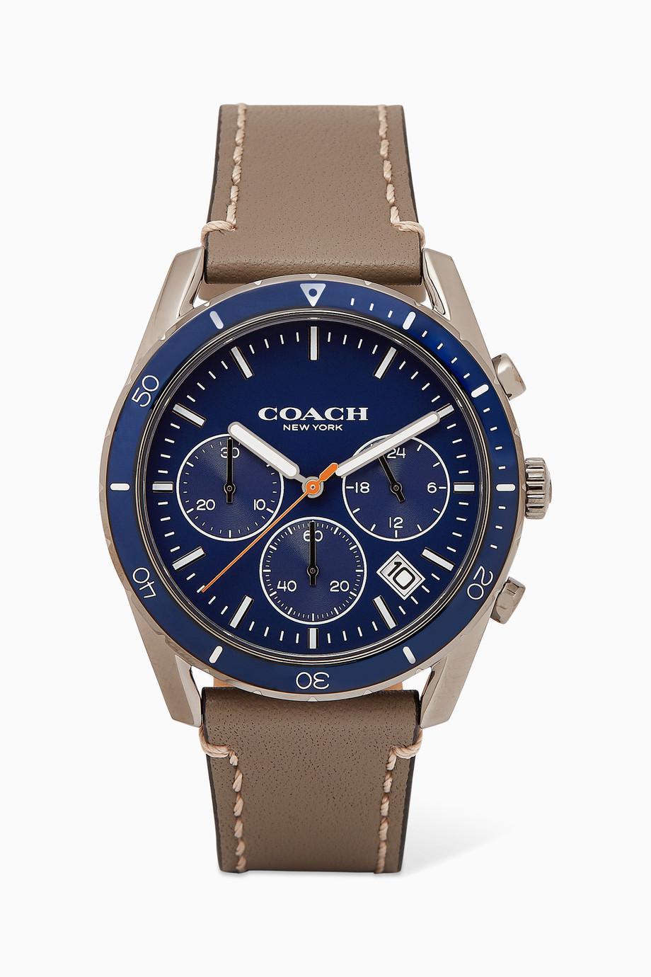 52ff070d3 Shop Coach Grey Thompson Sport Watch for Men | Ounass Kuwait