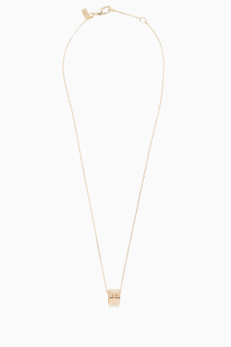 6857360a8 Shop Gucci Yellow Yellow-Gold Icon Twirl Pendant Necklace for Kids ...
