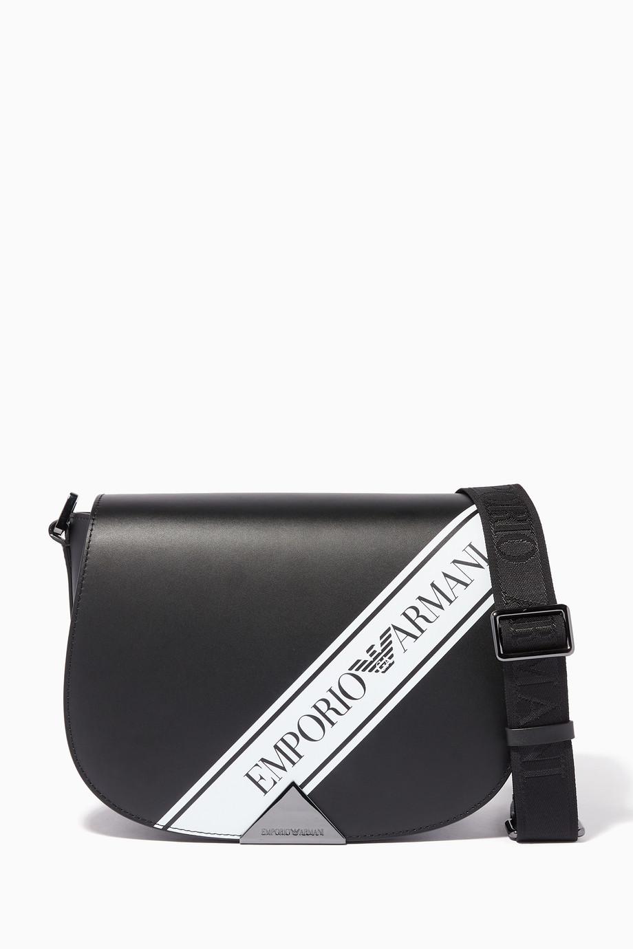 7837350bea Shop Emporio Armani Black Peggy Crossbody Bag for Women   Ounass Saudi