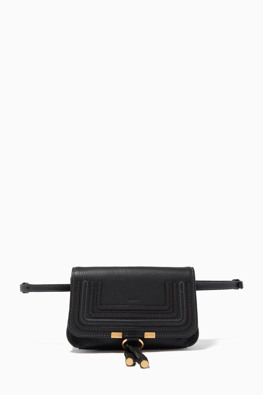 a554cba3 Shop Chloé Black Marcie Calf Leather Belt Bag for Women | Ounass UAE