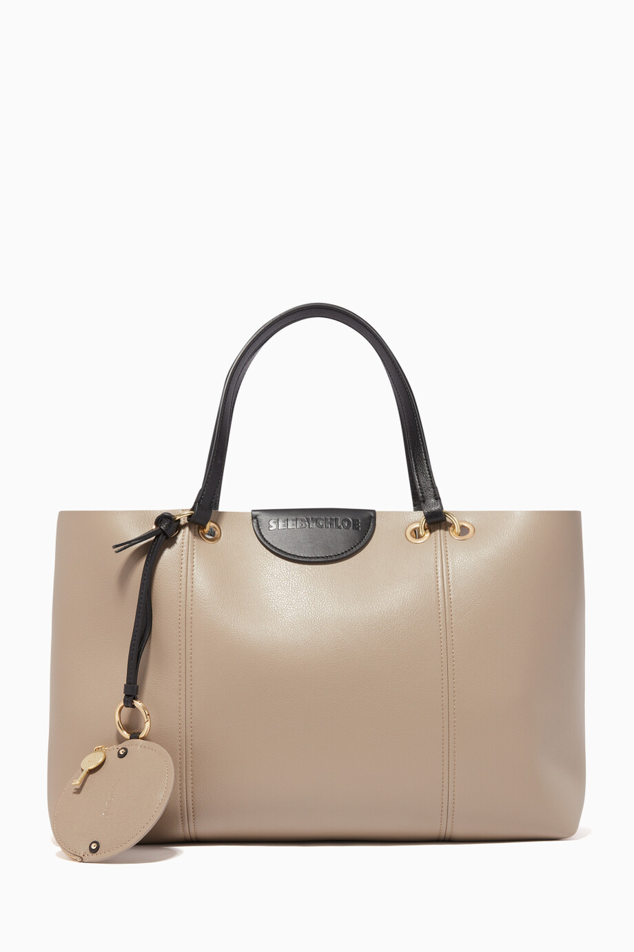 f954ee67 Shop See By Chloé Grey Large Marty Tote Bag for Women | Ounass Saudi