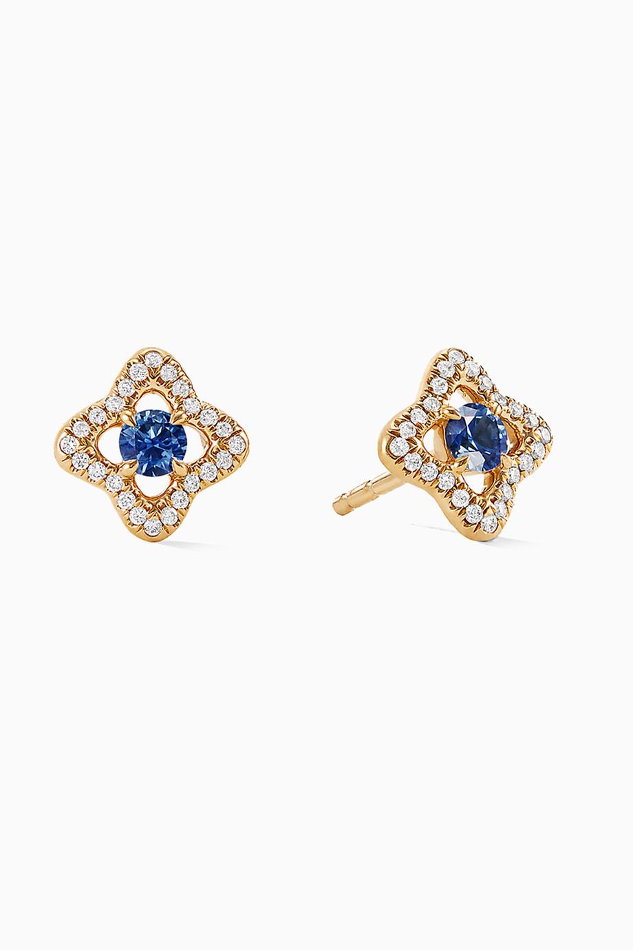 455c6b4ea74c62 Shop David Yurman Yellow Venetian Quatrefoil® Blue Sapphires ...
