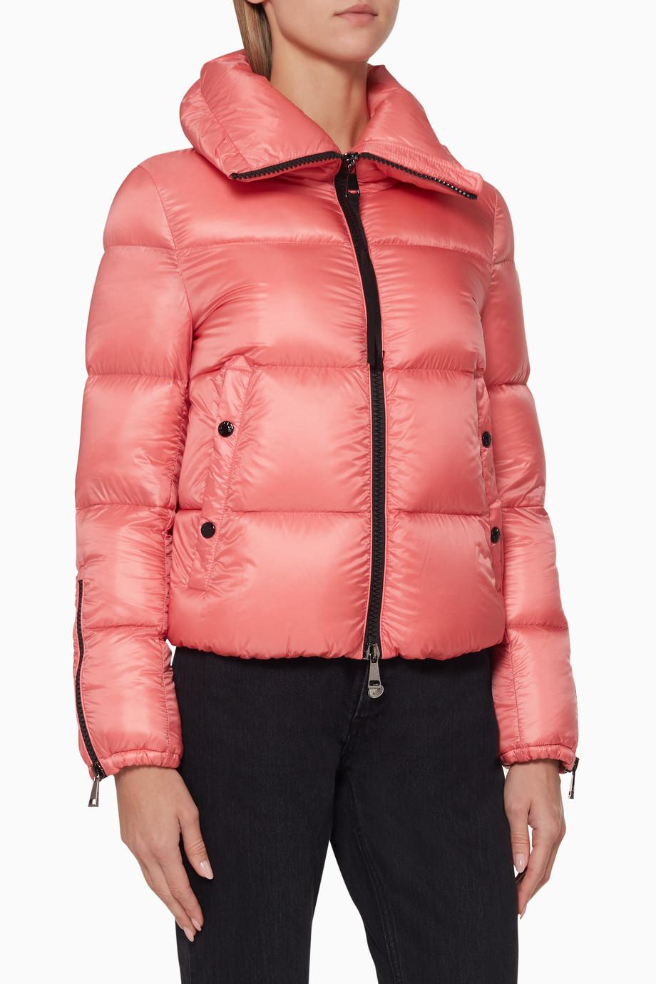 c8018d408 Shop Moncler Pink Bandama Quilted Down Jacket for Women | Ounass Saudi
