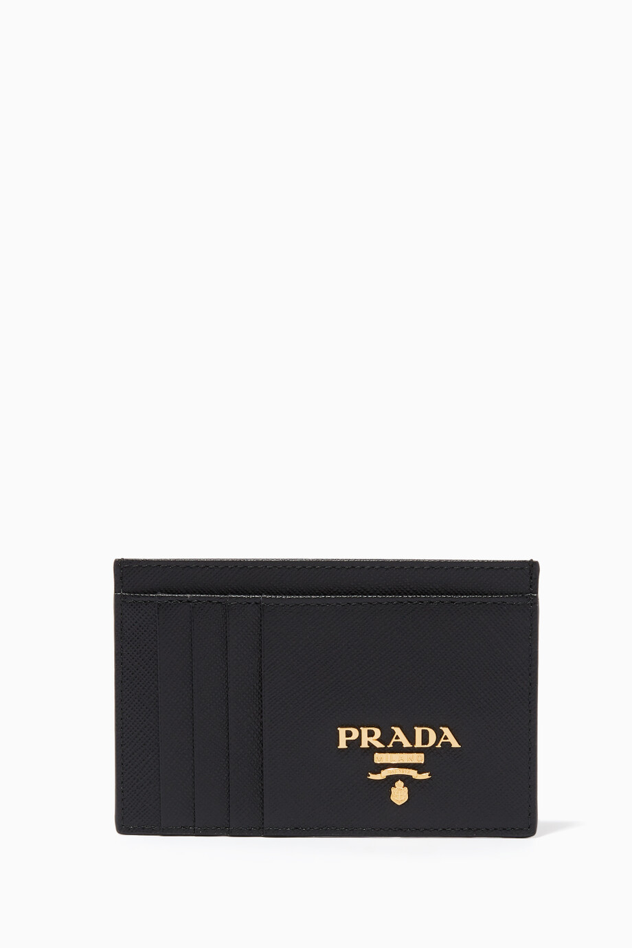95d888c7947a1 Shop Prada Black Logo Saffiano Leather Long Card Holder for Women