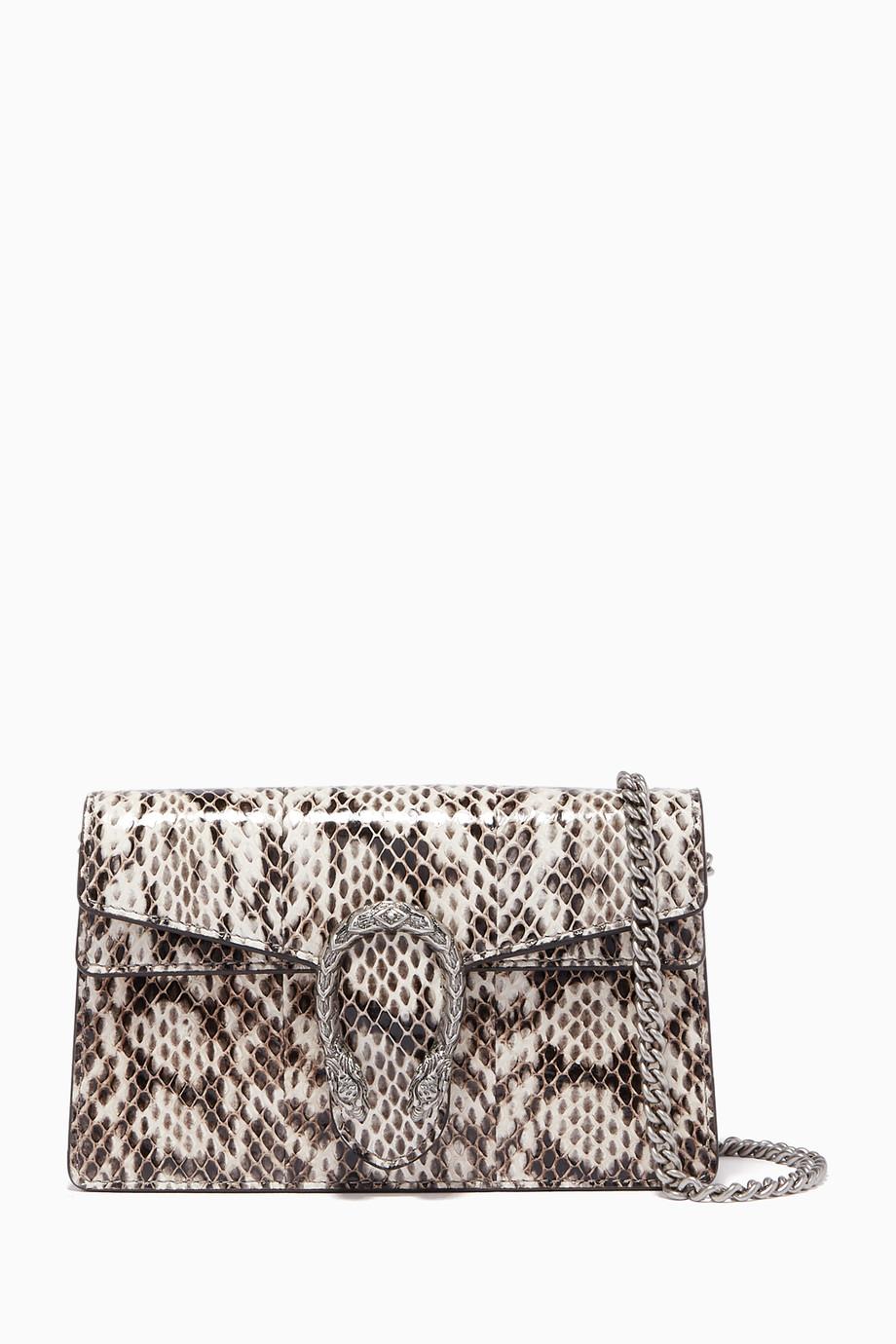 f54d36a2a Shop Gucci White Dionysus Super Mini Elaphe Snake Cross Body ...