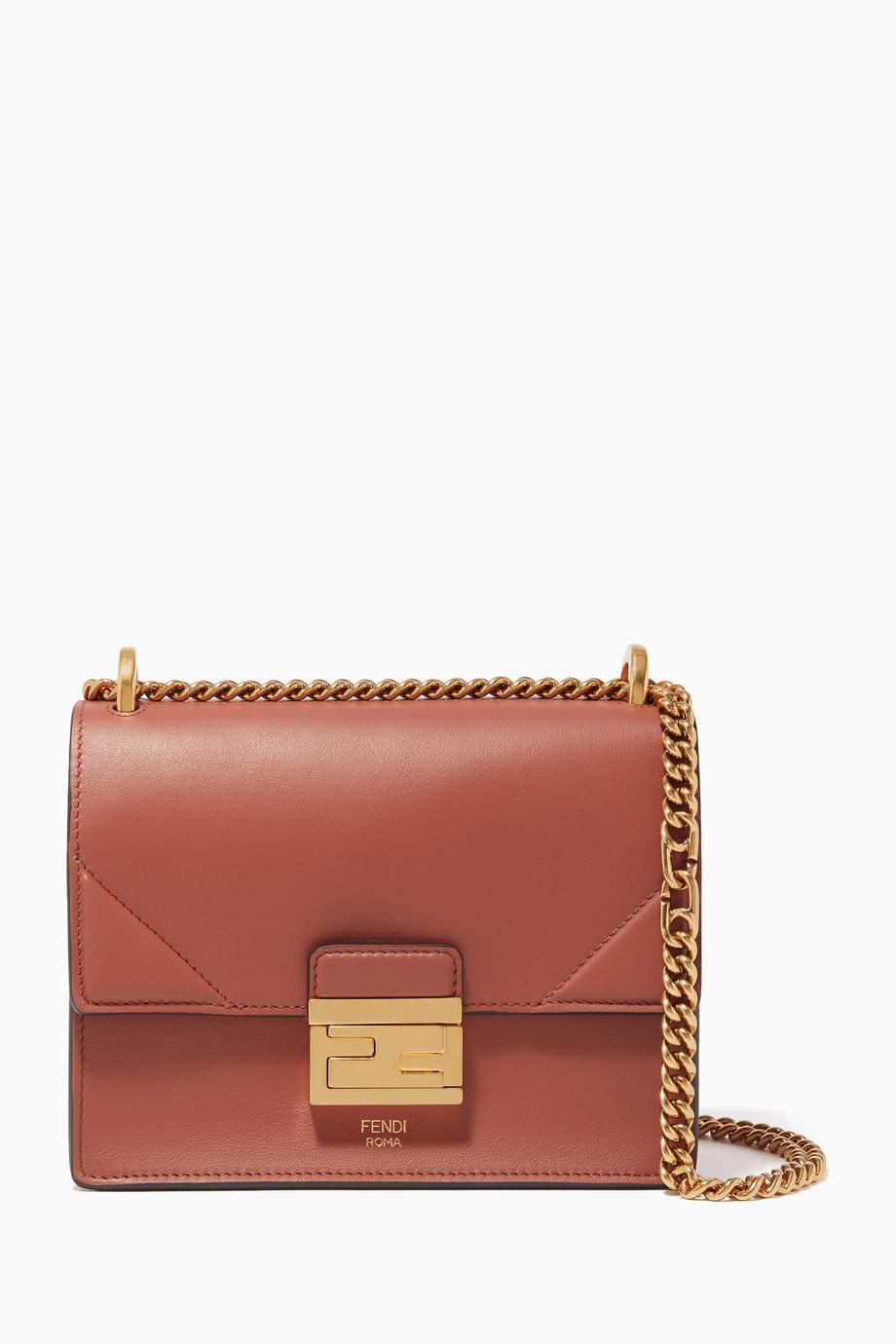 0227e87361 Shop Fendi Brown Kan U Small Leather Bag for Women | Ounass UAE