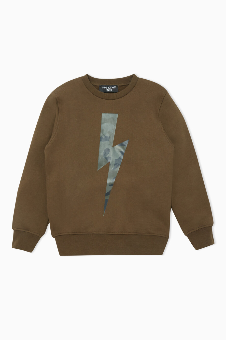 vasta selezione di b4eb0 f7510 Shop Neil Barrett Green Felpa Logo Print Sweatshirt for Kids ...